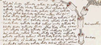 Ein Beispiel für den Schriftfluss im Manuskript