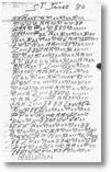Eine Seite aus dem Notizbuch von James Hampton