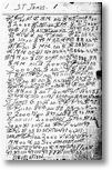 Eine Seite aus dem Notizbuch von James Hampton. Für eine Anzeige in voller Größe bitte auf dieses Bild klicken